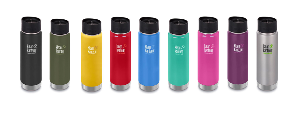 Klean Kanteen Wide 592ml Insulated Camping Bottle Cafe Cap Thermos Wild Orchid